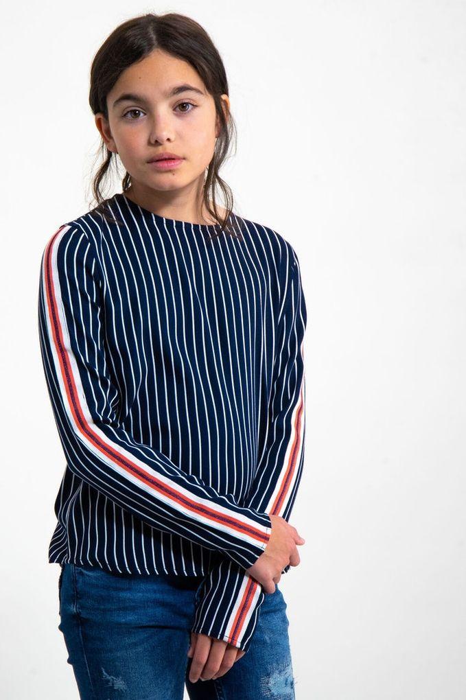 Garcia Mädchen Bluse langarm gestreift Viskose Blusenshirt – Bild 2