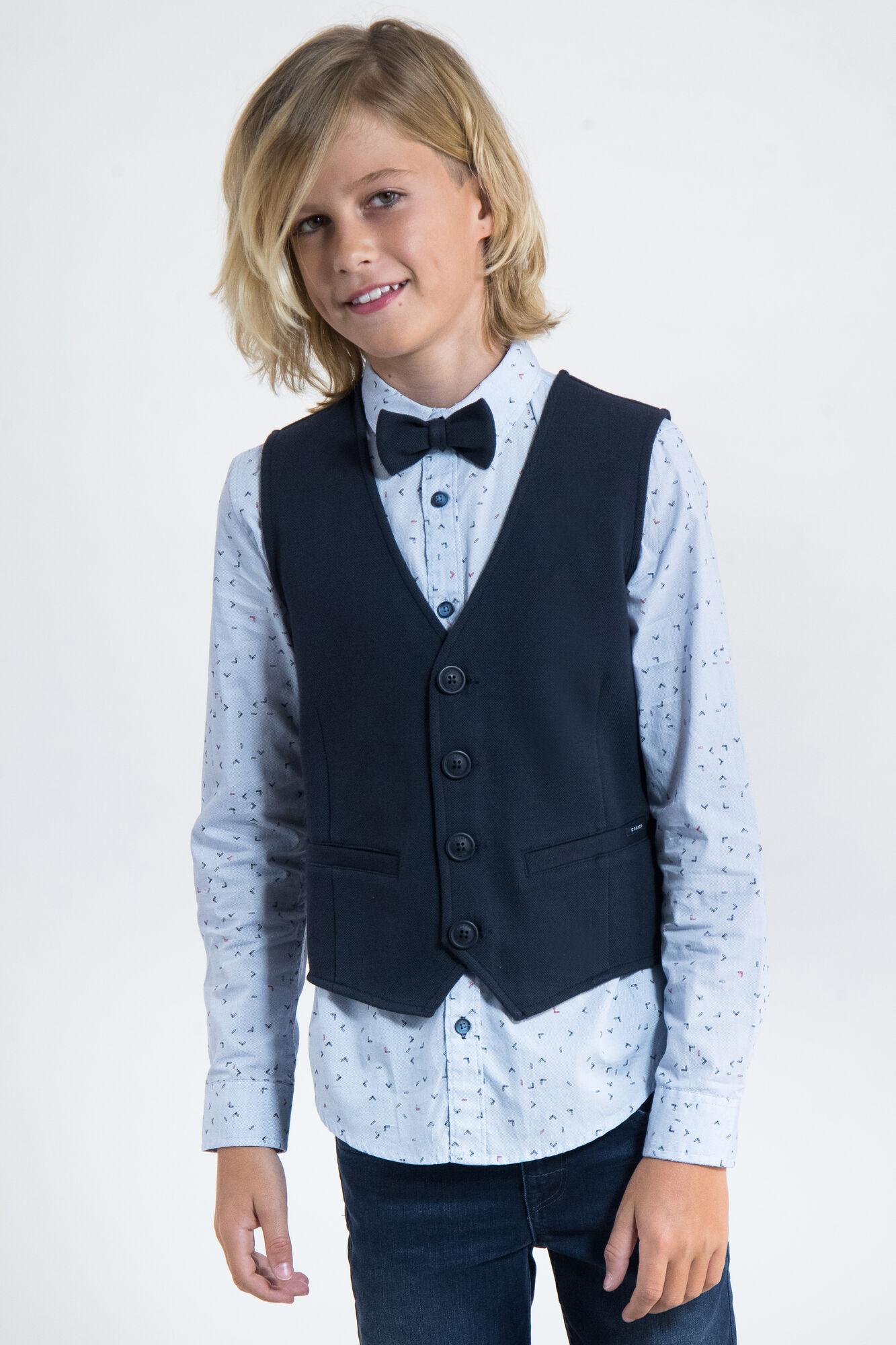 garcia jungen anzug-weste baumwolle festlich festmode