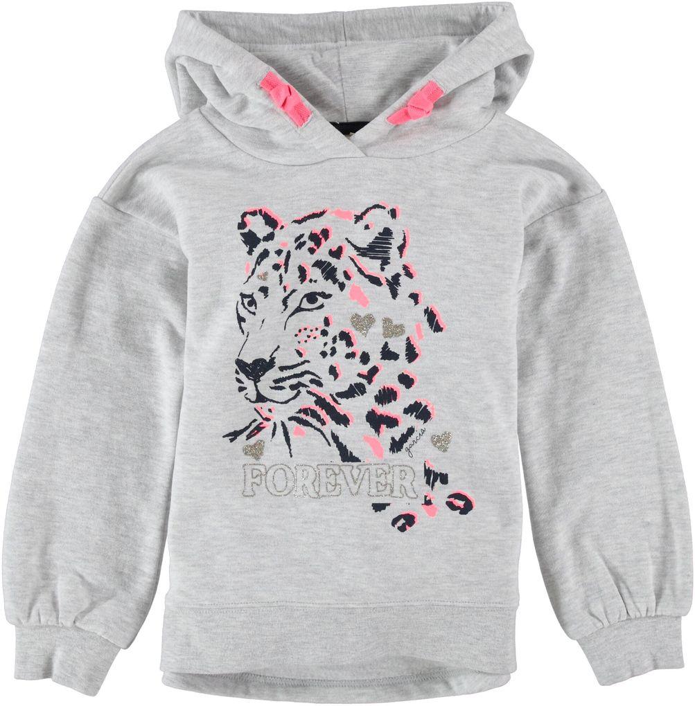 Garcia Mädchen Sweatshirt mit Kapuze Hoodie Leo-Glitzer Print