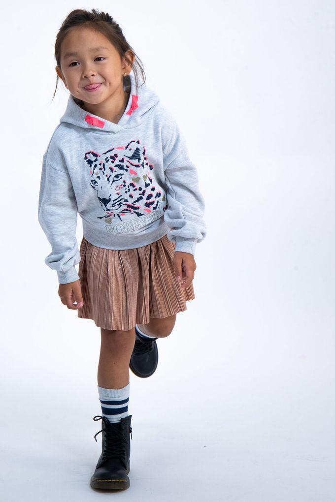 Garcia Mädchen Sweatshirt mit Kapuze Hoodie Leo-Glitzer Print – Bild 5