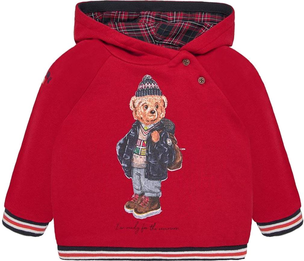 Mayoral Baby Jungen Sweatshirt mit Kapuze Teddymotiv Baumwolle – Bild 1