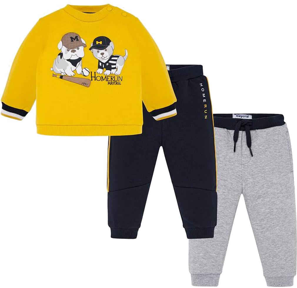 Mayoral Baby Jungen Set Sweatshirt & 2er Pack Sweathosen