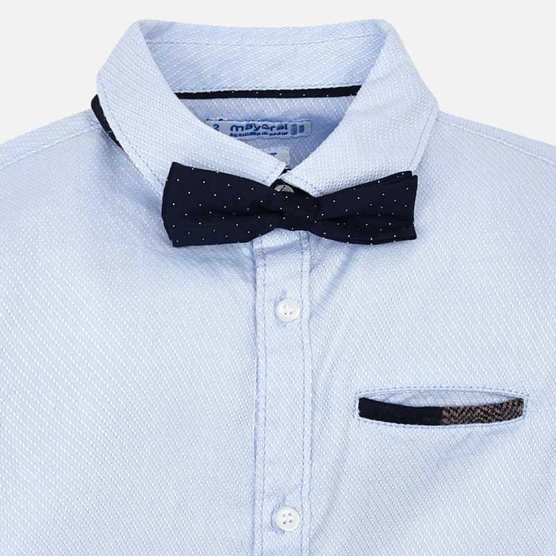 Mayoral Kinder Jungen Anzug-Hemd mit Fliege langarm – Bild 3