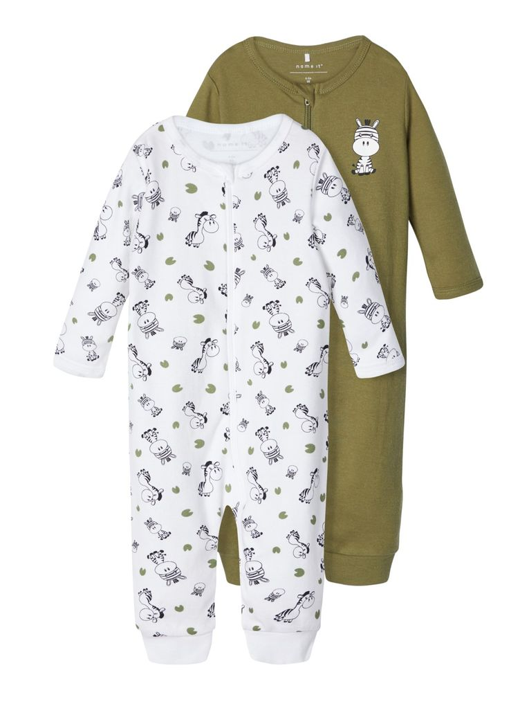 Name it Baby Jungen Schlafstrampler 2er Pack NBMNIGHTSUIT ZIP