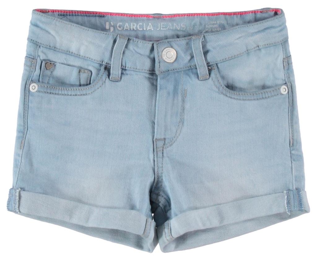garcia mädchen jeans shorts hellblau sanna kurze hose denim slim kaufen |  ceres webshop