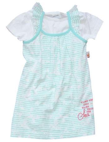 BLUE SEVEN Baby Mädchen Set T-Shirt & Kleid