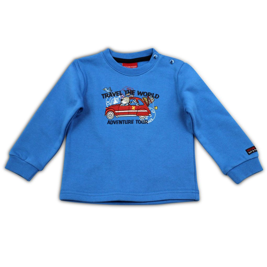 Salt and Pepper Jungen Sweatshirt Adventure Auto – Bild 1