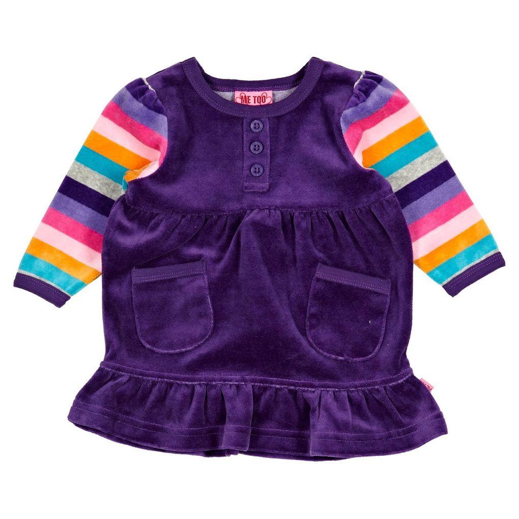 ME TOO Mädchen Baby Velours-Kleid Kane – Bild 1