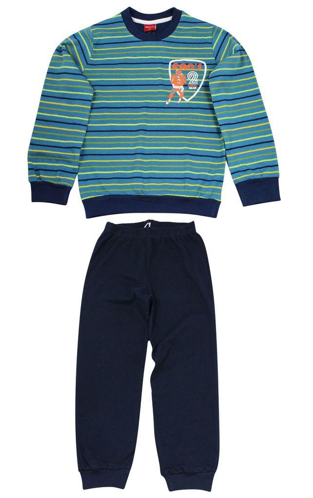 Normann Jungen Schlafanzug Kuschel Interlock American Football