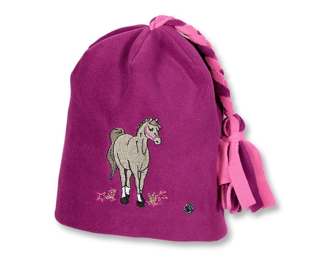 Sterntaler Mädchen Wintermütze Pferd