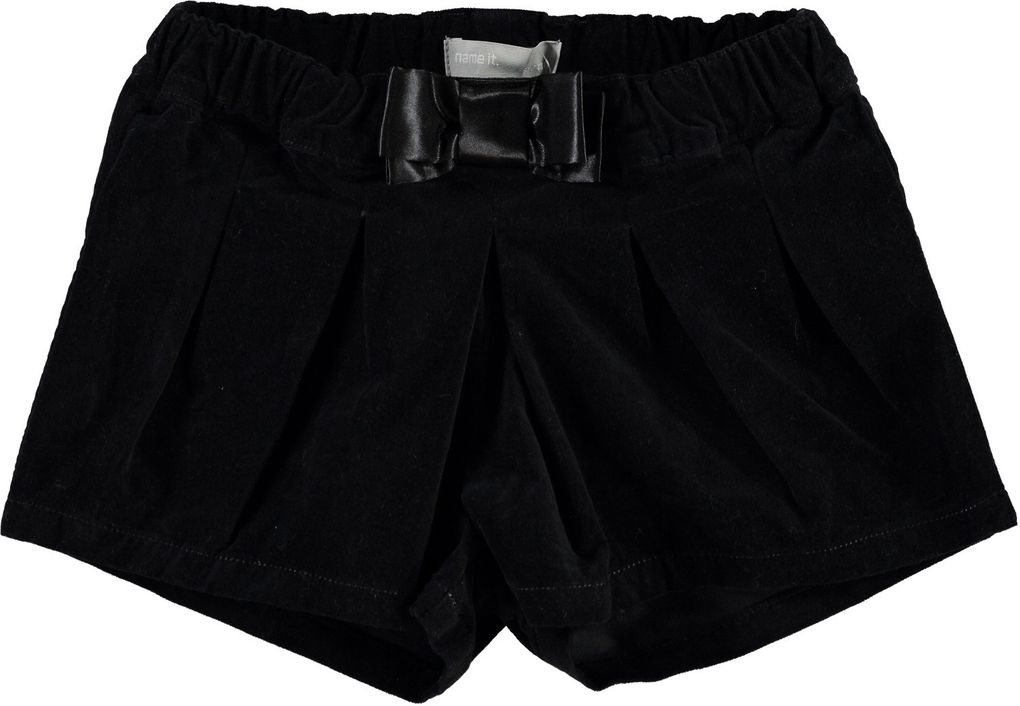 NAME IT mini Mädchen Velours-Shorts festlich Nitpansy