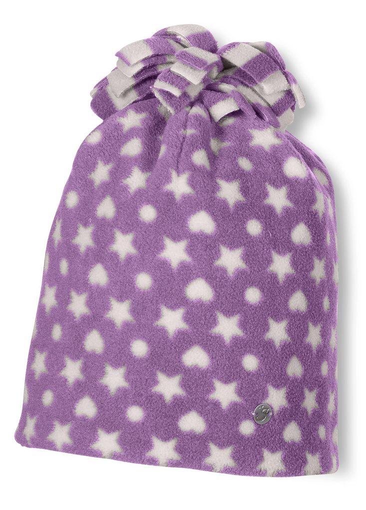 Sterntaler Wintermütze aus Microfleece für Mädchen pflaume