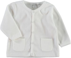 NAME IT Baby Cardigan weiß Velours Nituxo – Bild 1