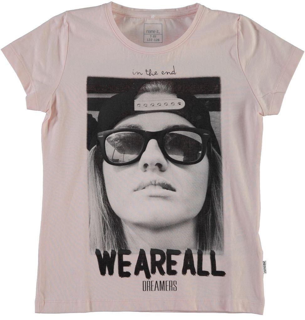 Name it kids Mädchen T-Shirt mit Fotodruck Genu – Bild 1