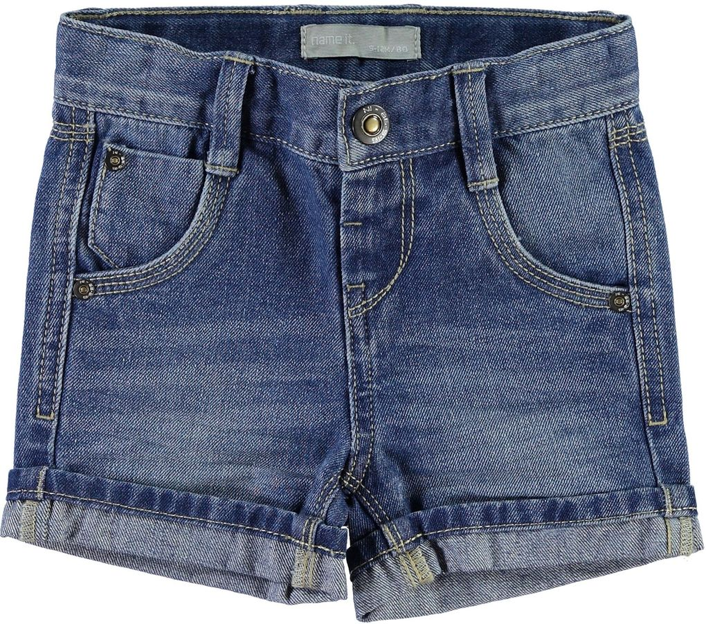 NAME IT Jungen Jeansshorts regular Ross mini light blue denim – Bild 1