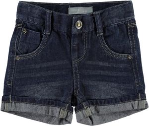 NAME IT Jungen Jeansshorts Ross mini dark blue denim – Bild 1