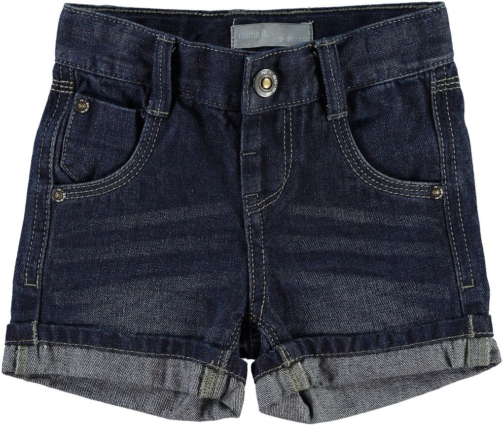 NAME IT Jungen Jeansshorts Ross mini dark blue denim