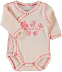 Name it Frühchen Baby Wickelbody Nitwee rosa