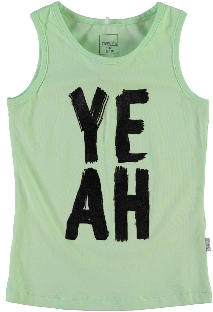 Name it Mädchen Tank Top pastell grün Hey kids