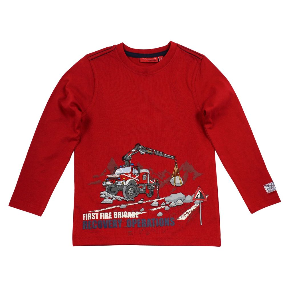 Salt and Pepper Longsleeve Feuerwehrkran Firefighter first – Bild 2