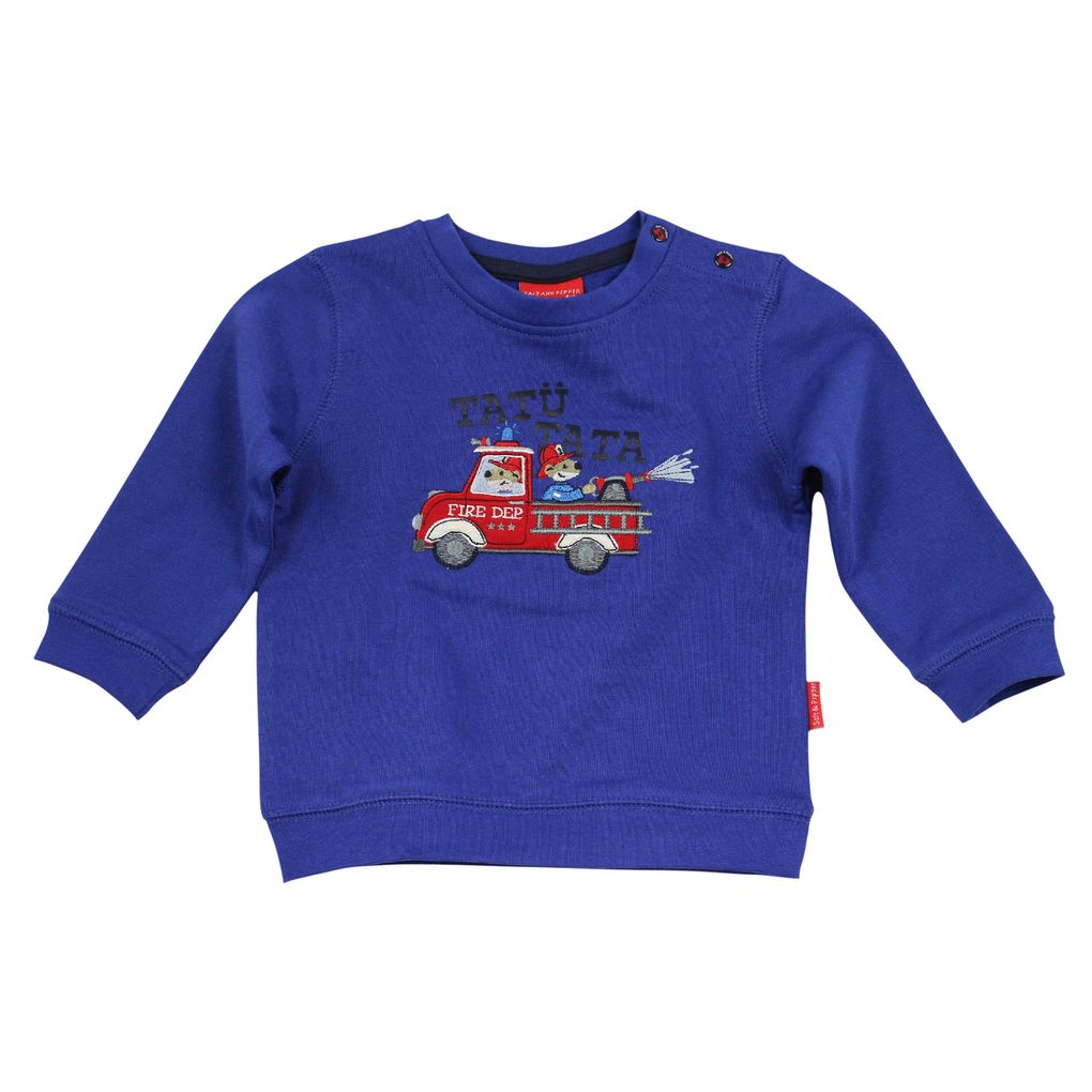 Salt & Pepper Baby Sweatshirt Feuerwehr little fire chief – Bild 1