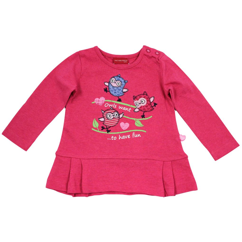 Salt and Pepper Baby Longsleeve Eule smart owl fun – Bild 2
