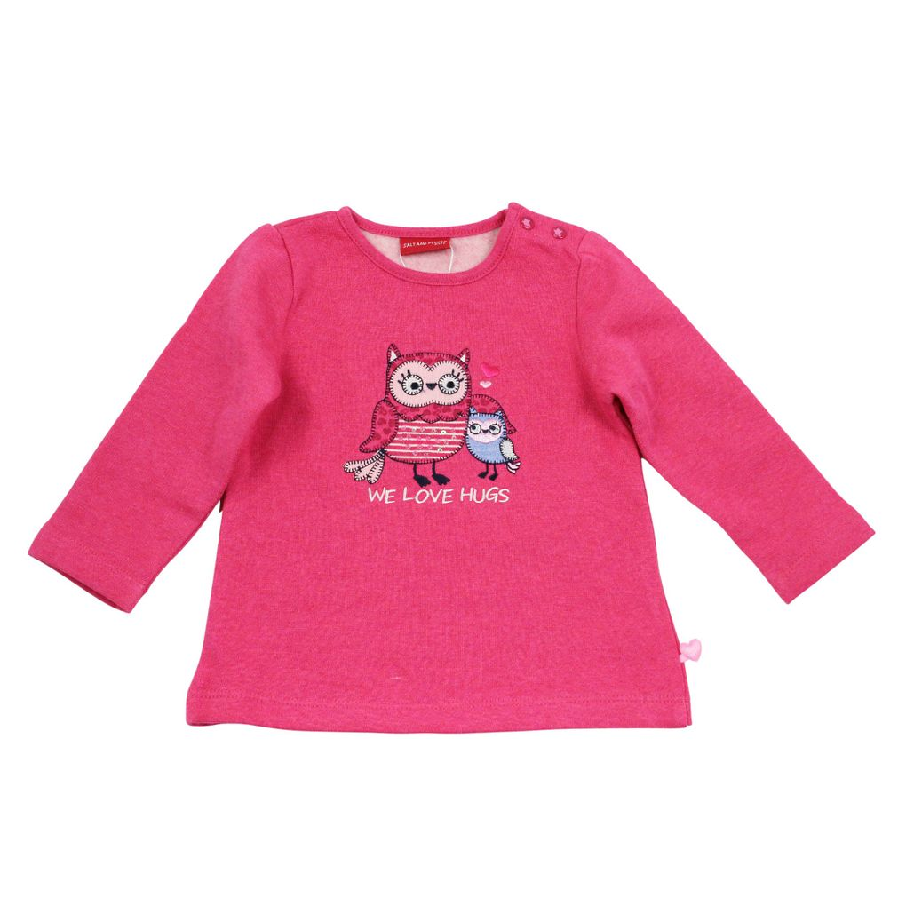 Salt and Pepper Baby Sweatshirt Eule smart owl we love – Bild 2