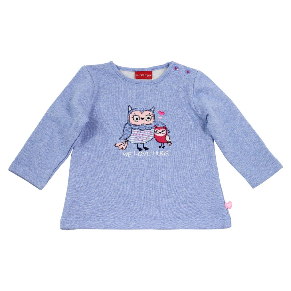 Salt and Pepper Baby Sweatshirt Eule smart owl we love