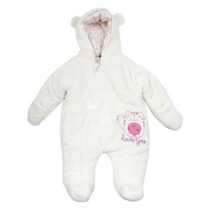 Salt and Pepper Baby Wagenanzug Overall off-white love