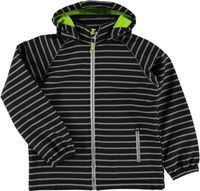 NAME IT Kinder Softshelljacke black gestreift Alfa