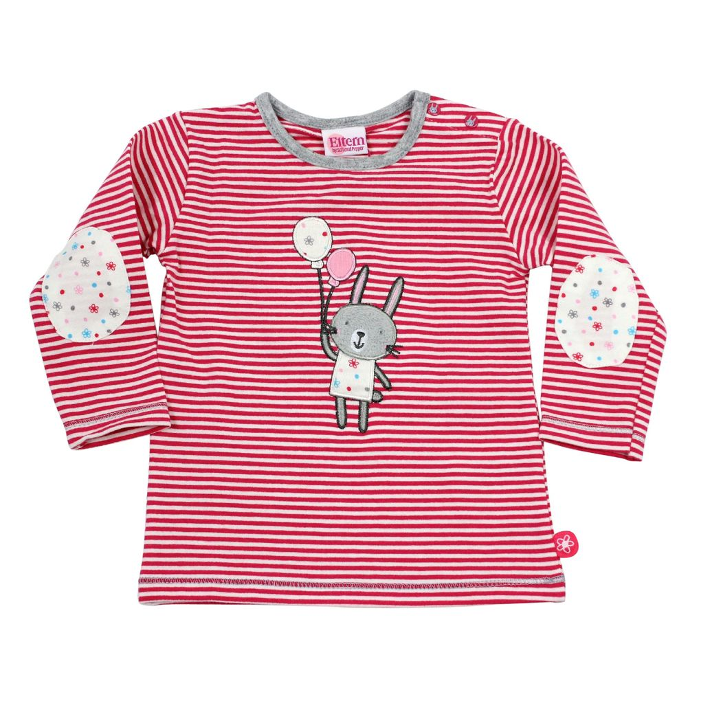 Salt and Pepper Eltern Baby Langarm-Shirt Rabbit stripe – Bild 2