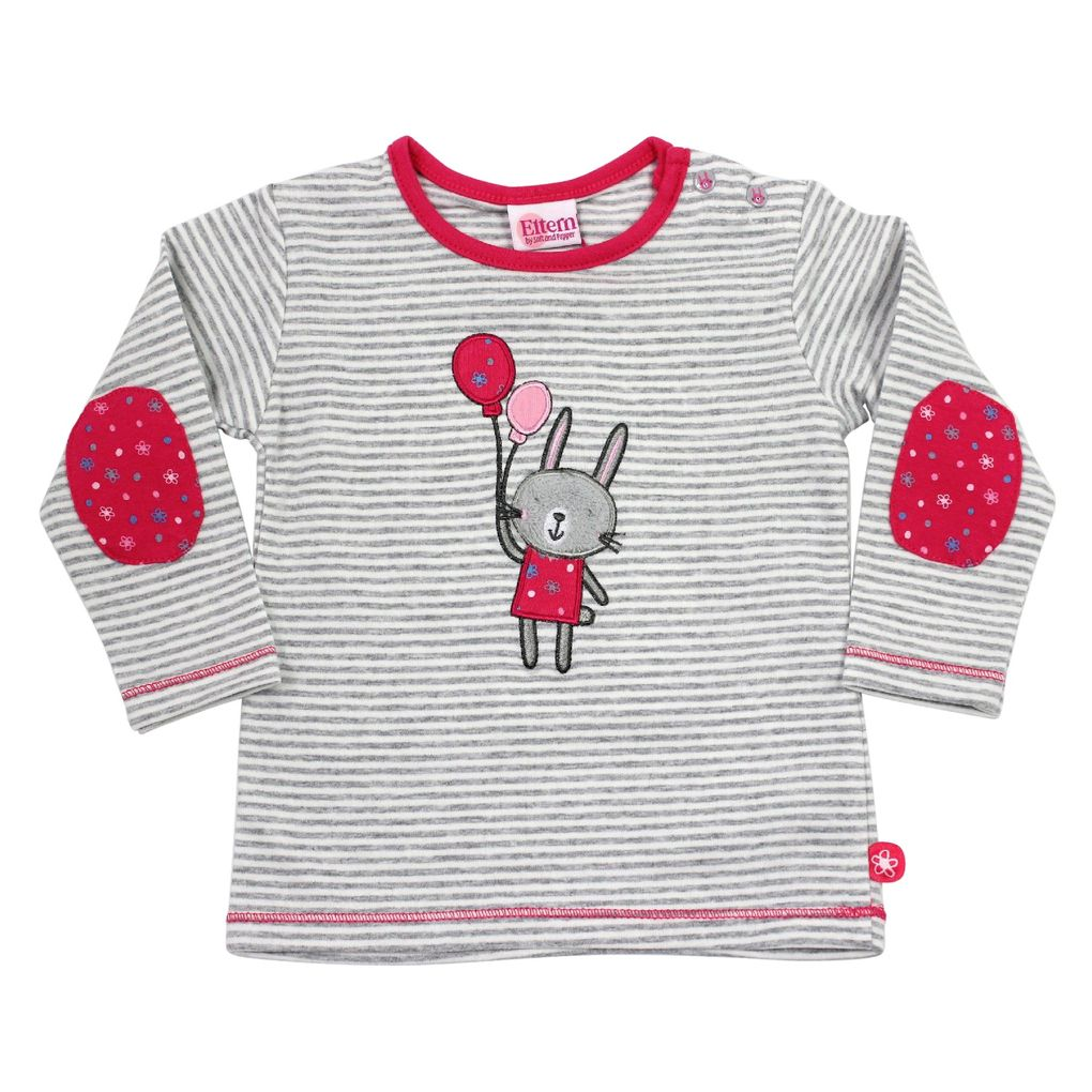 Salt and Pepper Eltern Baby Langarm-Shirt Rabbit stripe – Bild 1
