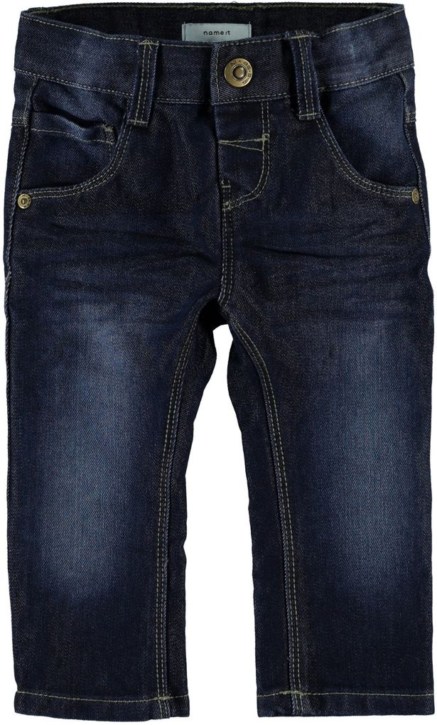 NAME IT Jungen Jeans slim Alex mini blue denim – Bild 3
