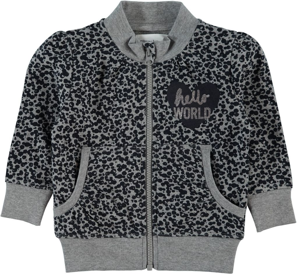 Name it Mädchen Sweatjacke Hello world Nitkayla mini – Bild 1