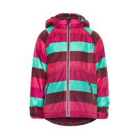 Minymo Mädchen Winterjacke Skijacke Gam gestreift grape wine