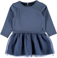 Name it Sweat-Kleid langarm mit Tüllrock indigo vintage Nitladance