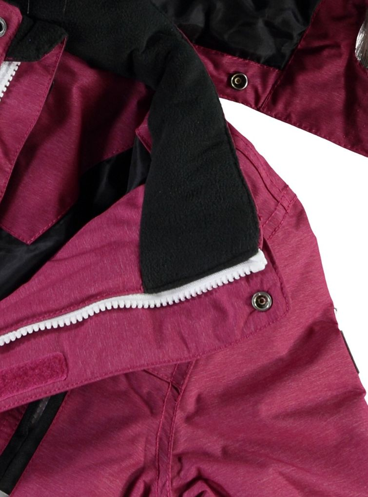 Name it Mädchen Winterjacke Funktionsjacke in sangria Medenim – Bild 3