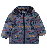 Name it Jungen Winterjacke blau mit Rennauto Nitmellon