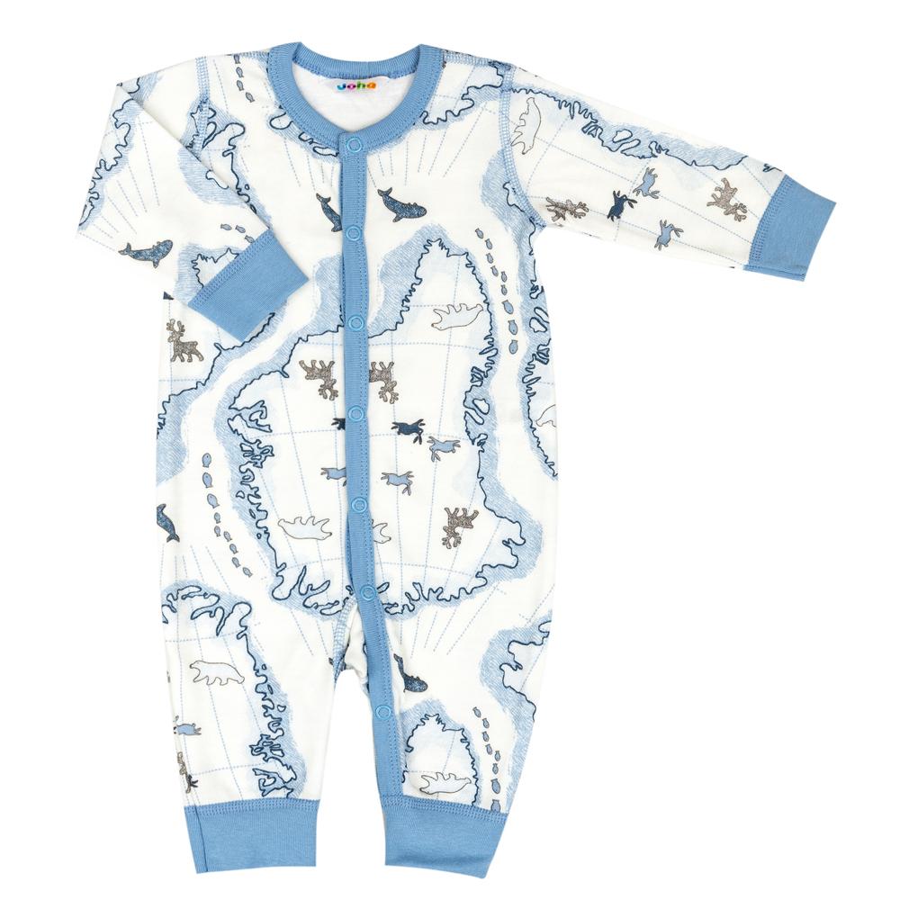 Joha Baby Schlafoverall aus Merino-Wolle Bamboo hellblau