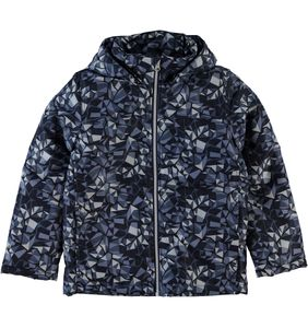 Name it Jungen Winterjacke Pix Camo blau gemustert Nitmellon