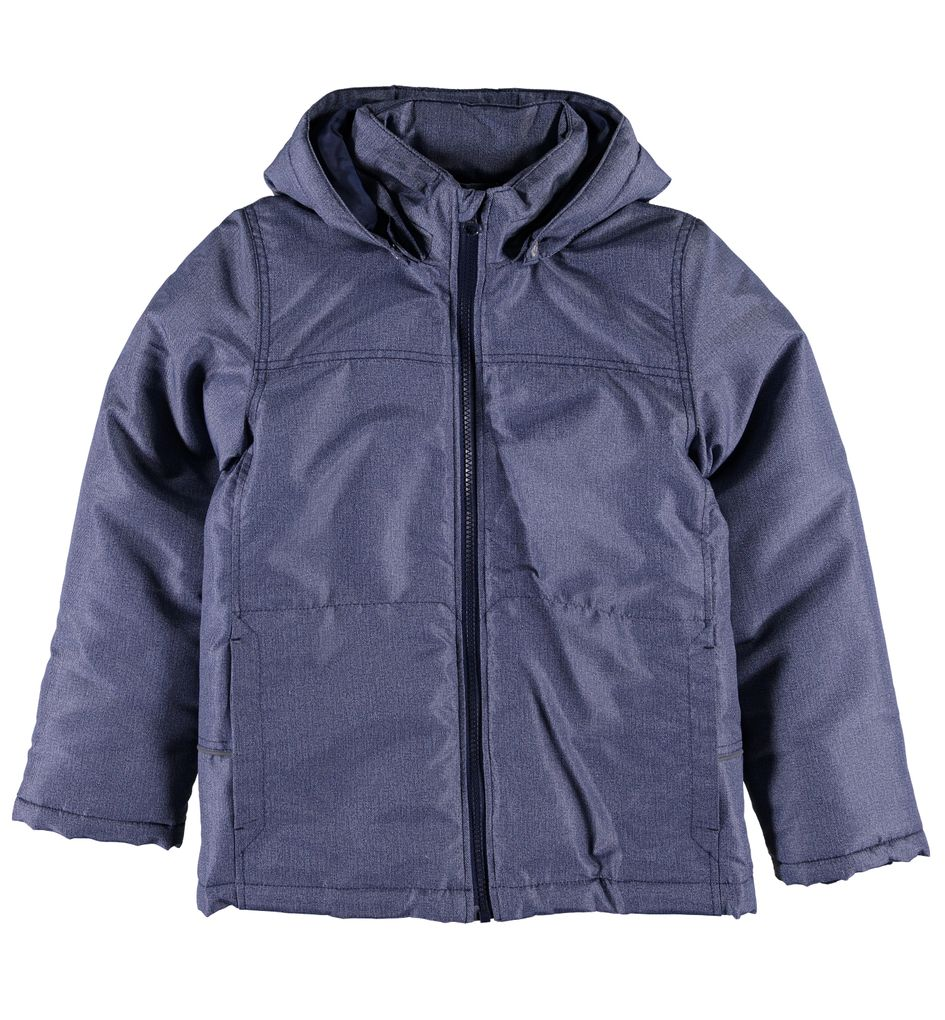 Name it Jungen Winterjacke Jeansoptik blau Nitmellon – Bild 1