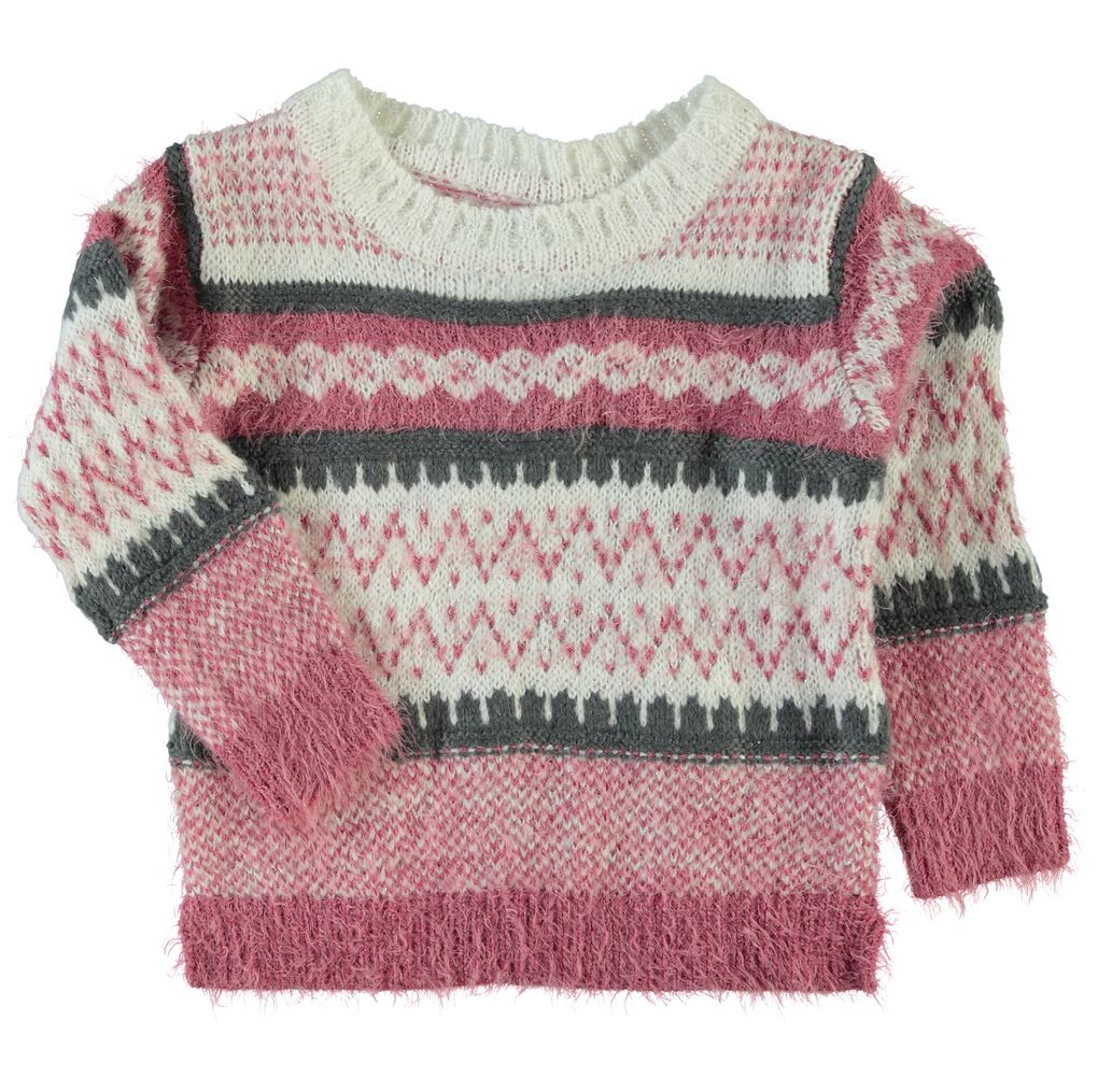 Name it Mädchen Pullover mit Mohair-Effekt in heather rose Nittwenna mini