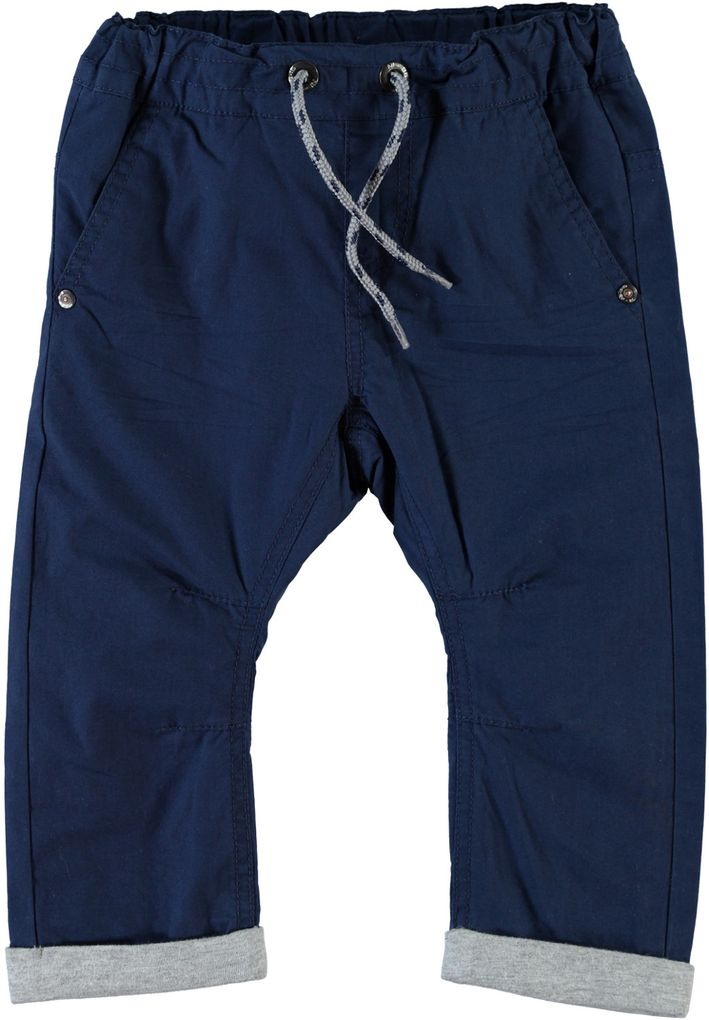 Name it Baggy Chino-Thermohose in dunkelblau Nitsilon mini