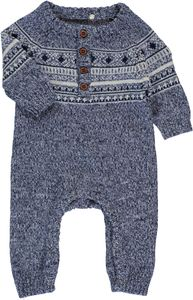 Name it Baby Strick-Overall Norwegermuster Nitmalthe – Bild 3