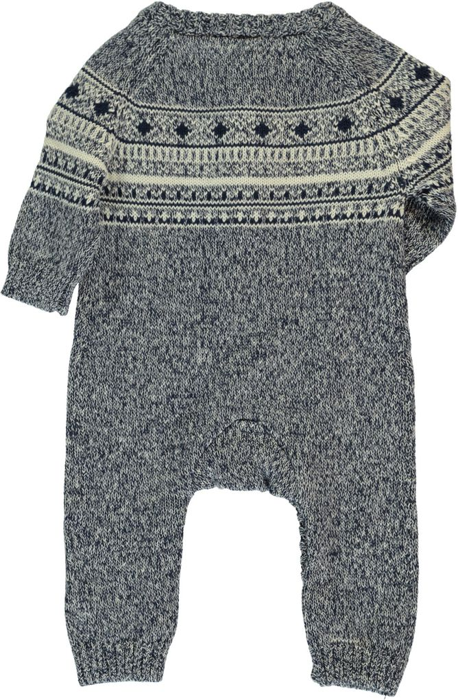 Name it Baby Strick-Overall Norwegermuster Nitmalthe – Bild 2