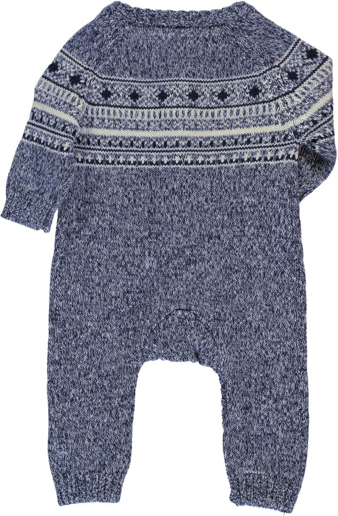 Name it Baby Strick-Overall Norwegermuster Nitmalthe – Bild 4