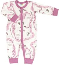Joha Baby Schlafoverall aus Merino-Wolle Bamboo lila orchidee