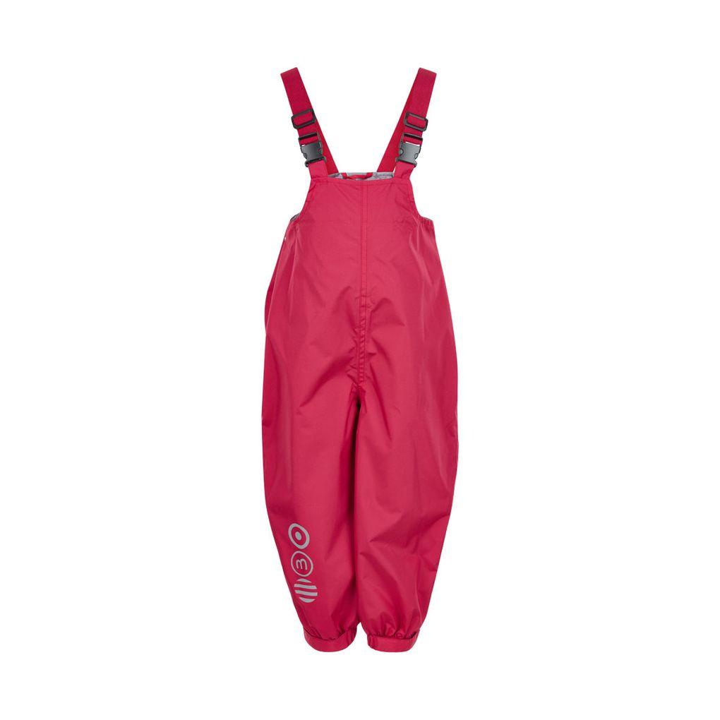 Minymo Mädchen Regenhose Matschhose Wassersäule 5000 atmungsaktiv rot – Bild 1