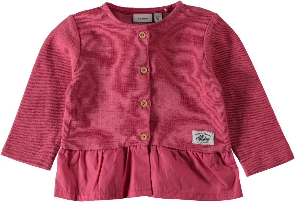 Name it Baby Strickjacke rapture rose Niteva – Bild 1