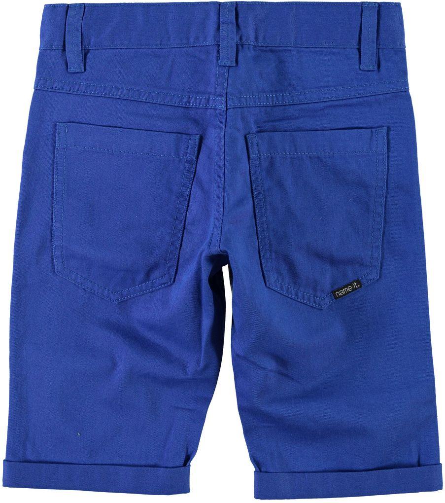 Name it Jungen Twill-Longshorts Bermuda blue Nitisak – Bild 2